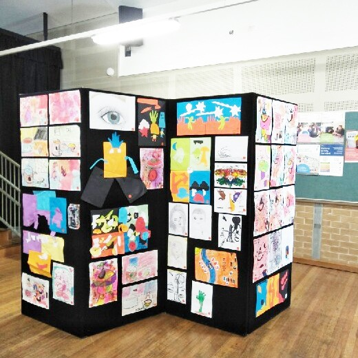 Display of student artworks